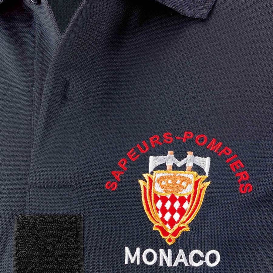 senfa saflex embroidery firefighter polo