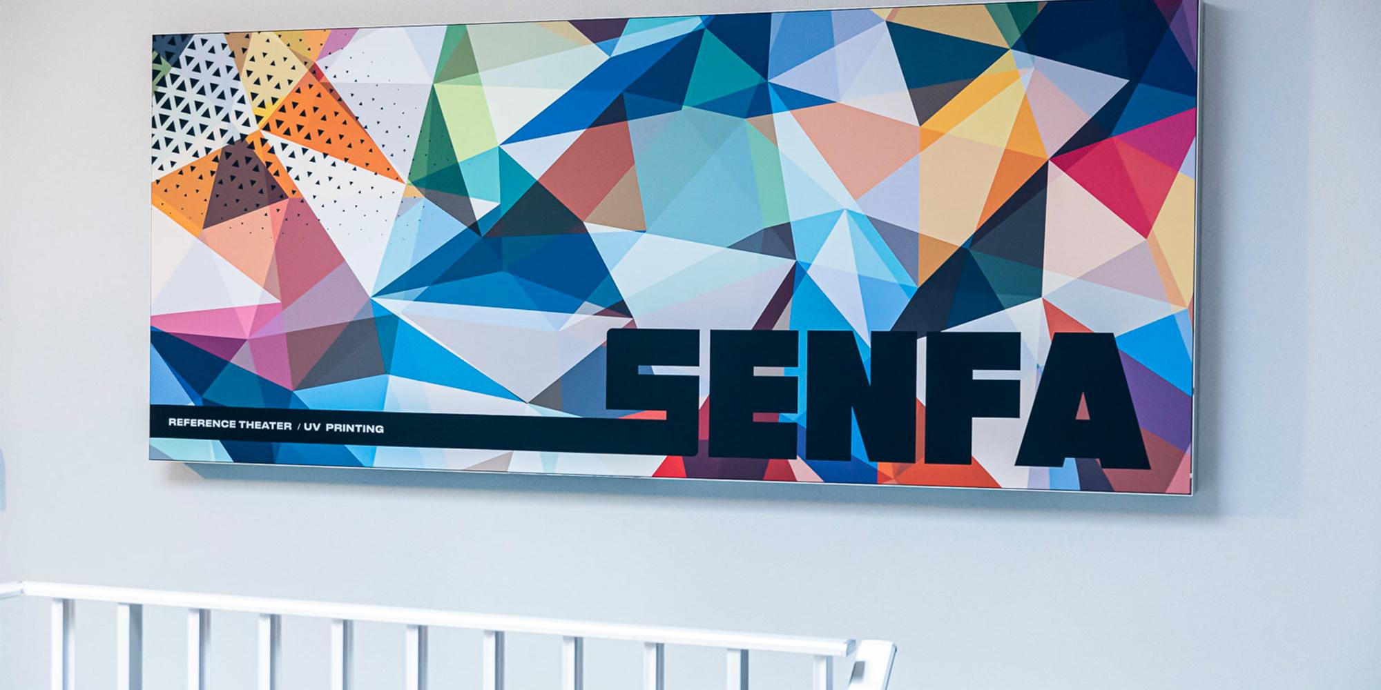senfa frame textile theater uv printing fire retardant